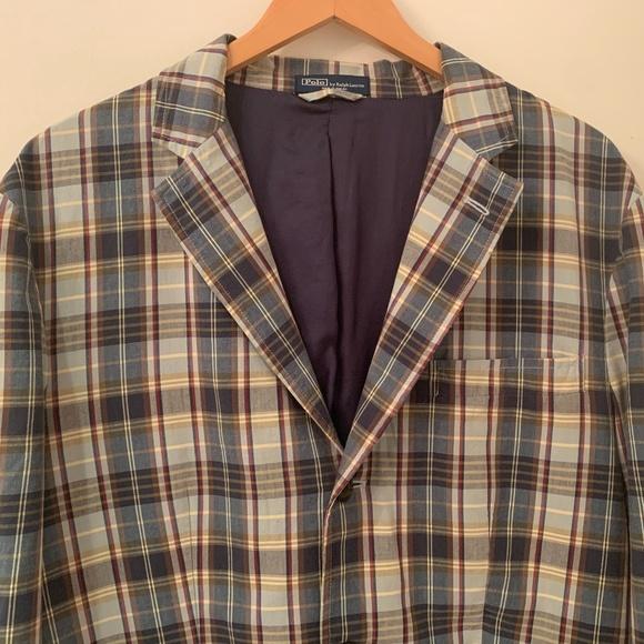 Polo by Ralph Lauren Other - Polo Ralph Lauren madras plaid jacket blazer